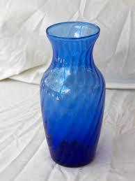 Antique Cobalt Blue Vases Vintage Cobalt Blue Depression Glass Flower Vase Bottle Old