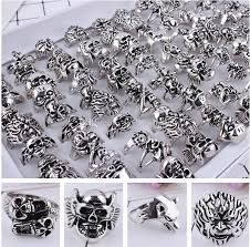 steel skull rings images Gothic big skull ring men man imitation stainless steel bohemian jpg