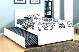 double trundle bed bedroom furniture double trundle bed trundle bed with bookcase headboard white full