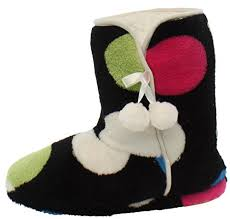 womens boots rubber sole pajamamania s slipper boots with rubber sole as low as 14 99
