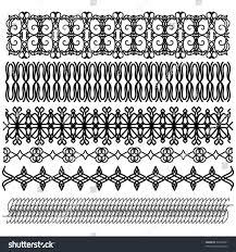 black vector ornament border collection stock vector 55495591