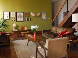 Mid century wall decor living room traditional with eames chair