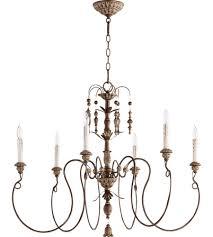 vintage copper ceiling light quorum 6006 6 39 salento 6 light 32 inch vintage copper chandelier