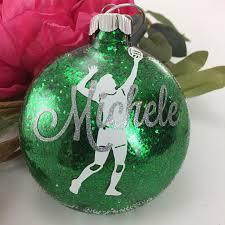 volleyball glitter ornament personalized glitter