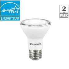 home depot flood light bulbs ecosmart 50 watt equivalent par20 dimmable led flood light bulb
