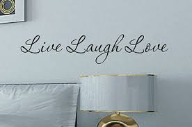 inspiring idea live laugh wall with sticker quote great