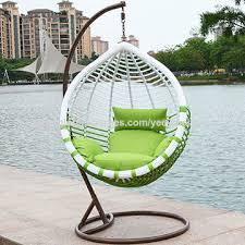 china pe rattan hanging peanut chair hanging egg chair on global