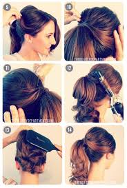 ponytail bump 1950 s inspired ponytail ponytail shoulder length hair and