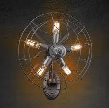 Electric Wall Sconces Creative Industrial Electric Fan Edison Wall Sconce Loft Style
