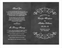 chalkboard program wedding 8 chalkboard wedding program templates psd vector eps ai