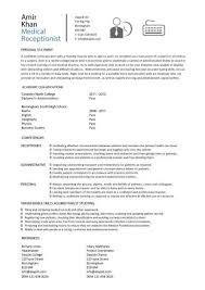 Open Office Resume Template Receptionist Resume Objective Office Resume Format Resume