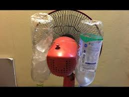fan that uses ice to cool how to make a fan on ice to keep cool with water bottles youtube