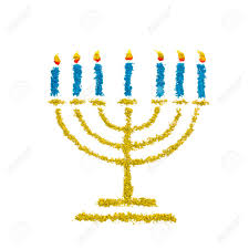 hanukkah candles colors hanukkah menorah symbol made with color powder isolated