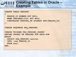Create Table In Oracle Introduction To Sql