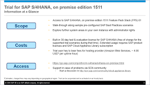 new 30 day trial for sap s4hana on premise edition 1511 fps 01