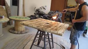 torch method coffee table project youtube