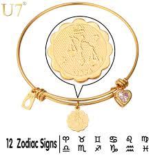 u7 libra zodiac sign jewelry gold color zirconia horoscope