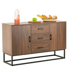 kitchen storage cabinets with drawers mecor modern sideboard storage cabinet buffet table kitchen storage with three storage drawers