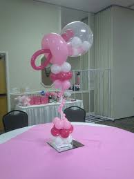 balloon rattle centerpiece by balloons elite baby baby shower