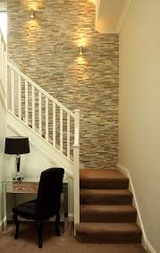 Ideas To Decorate Staircase Wall Stairway Wall Decorating Ideas Staircase Transitional With Desk