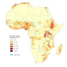 Population Density World Map by The Afripop Project High Resolution Population Density Mapping