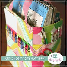 pattern art pdf art caddy tote pdf sewing pattern gingercake patterns and design