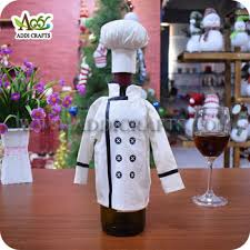 wine bottle covers to make chef wine bottle cover