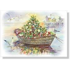 nautical christmas cards christmas cards box set 18 cards and 18 envelopes