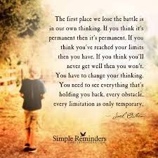 Love And Change Quotes by Joel Osteen Quotes Power Of Our Thoughts Peace Of Mind The