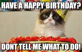 Depressed Cat Meme - have a happy birthday grumpy cat birthday meme on memegen