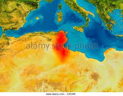 tunisia physical map map satellite geography tunisia stock photos map satellite