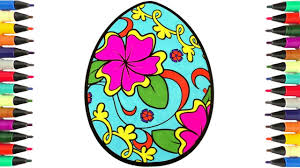 coloring pages beautiful easter egg learn colors for kids