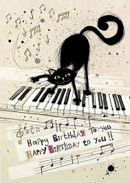 black cat u0026 piano birthday card perfect for a special person