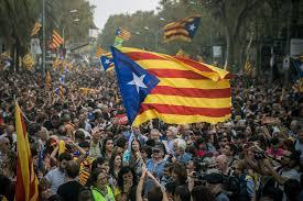 Barcelona Spain Flag Spain Cracks Down Hard After Catalonia Declares Independence