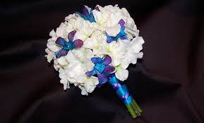 blue dendrobium orchids hydrangea dendrobium orchid bridesmaid bouquet destination or not