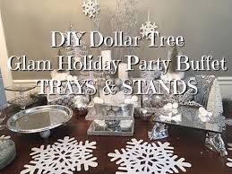diy dollar tree glam new years buffet trays u0026 stands youtube