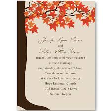 autumn wedding invitations maple tree fall wedding invitations ewi251 as low as 0 94