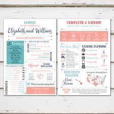 Unique Wedding Programs Printable Fun Infographic Wedding Program Unique Wedding Program
