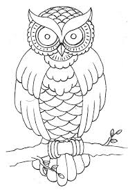 traditional owl outline search owls
