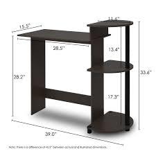 Desk Measurements Amazon Com Furinno 11181ex Bk Compact Computer Desk Espresso