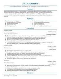 sample of executive resume executive assistant cv example for admin livecareer