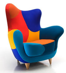 Furniture Armchairs Design Ideas Fancy Trendy And Adorable Armchair Design With Colorful Fabric