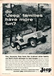 vintage jeep ad do u0026 39 jeep u0026 39 families have more fun print ads hobbydb
