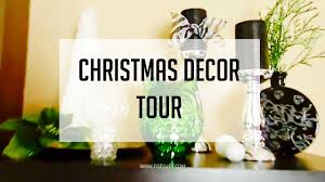 christmas decor tour theme black white silver green u0026 zebra
