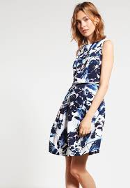 adrianna papell summer dress navy ivory women dresses casual w