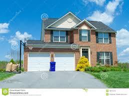 sale brick single family house home suburban usa stock photography