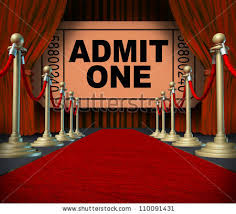 Movie Drapes Entertainment On Red Carpet Theatrical Cinema Stock Illustration