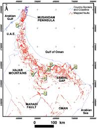 Map Of Oman Tertiary U2013quaternary Faulting And Uplift In The Northern Oman Hajar