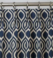 Blue And Beige Curtains Navy Blueindigo Light Beige Linen Trellis