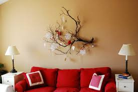 Decorating With Red Sofa Decoration Extravagant Wall Decorating With Simple Makeover Ideas